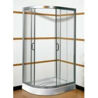 Glória 80x100-as Jobbos aszimmetrikus zuhanykabin tálcával kompletten