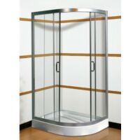 Grácia 80x100-as Balos aszimmetrikus zuhanykabin tálcával kompletten