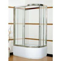 Ella 80x100-as Balos magastálcás zuhanykabin tálcával kompletten