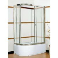Ditta 80x100-as Jobbos magastálcás zuhanykabin tálcával kompletten