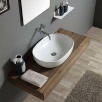 Design pultra építhető, kerámia mosdó 60x40x15