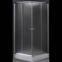 Szabina 80x80 szögletes zuhanykabin matt üveggel zuhanytálcával.