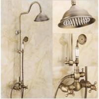 Vintage antikolt zuhanyrendszer felső esőztetővel,kézitussal.