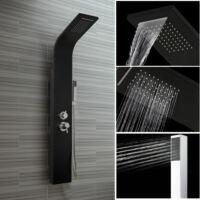 Baru Black rozsdamentes zuhanypanel vízeséssel,4 funkciós