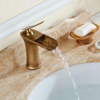 Vintage oxford vízeséses antik bronz mosdó csaptelep