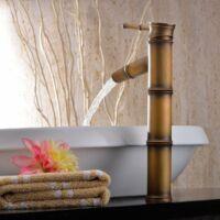 Bamboo magasított mosdó