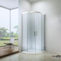 Royal standard 80x80-es íves zuhanykabin 6mm-es nano vízlepergető ÁTLÁTSZÓ üveggel