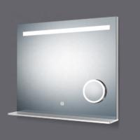 Ikon okos tükör led világítás polcos 80x80cm+kozmetikai tükör+páramentesítő