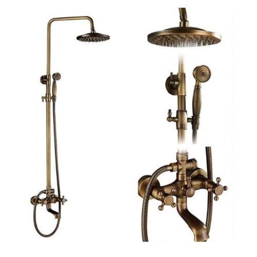Vintage antik kétgombos kádtöltős zuhanyszett felső esőztetővel, kézitussal.