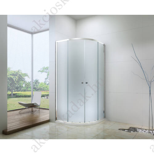 Royal standard 80x80-es íves zuhanykabin zuhanytálcával  6mm-es nano vízlepergető MATT üveggel