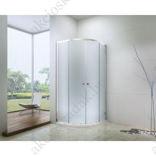 Royal standard 90x90-es íves zuhanykabin zuhanytálcával  6mm-es nano vízlepergető MATT üveggel