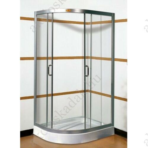 Glória 80x100-as Jobbos aszimmetrikus zuhanykabin +ajándék zuhanytálca