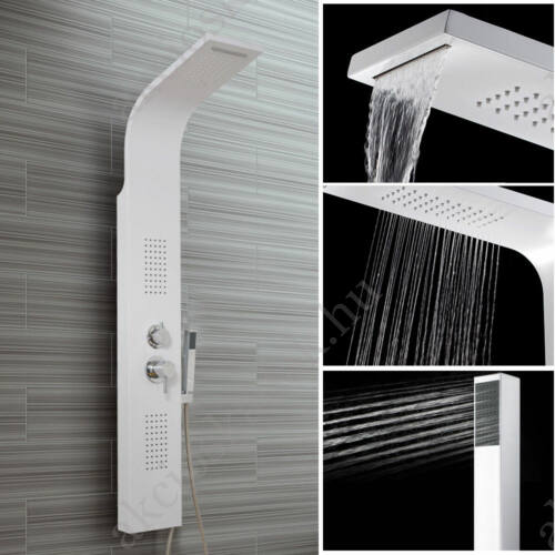 Aspen White rozsdamentes zuhanypanel vízeséssel,4 funkciós