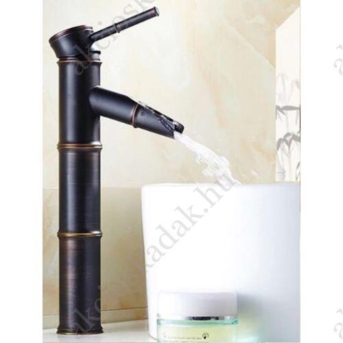 Bamboo Black magasított fekete mosdó csaptelep