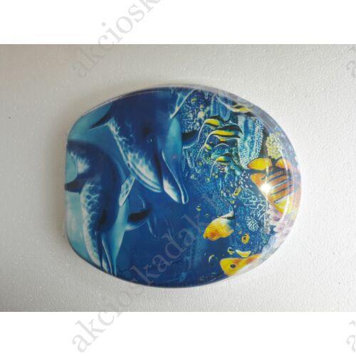Delfinek, MDF 3D-s, színes wc ülőke rozsdamentes zsanérral