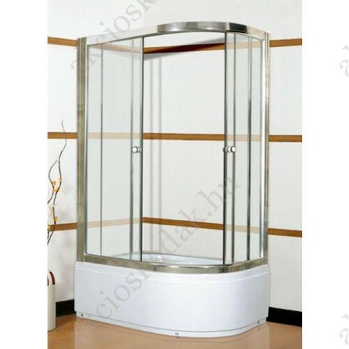 Ella 80x100-as Balos zuhanykabin+ajándék magas zuhanytálca