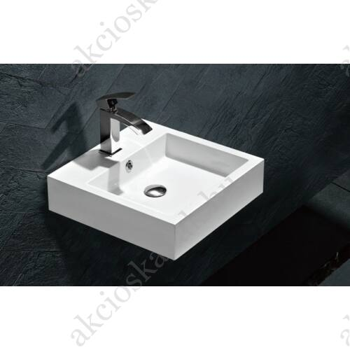 Kendra öntött márvány mosdó 45x45x12,5(11,5)cm