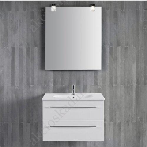 Stella 60cm-es fürdőszoba bútor függesztett fényes fehér front.