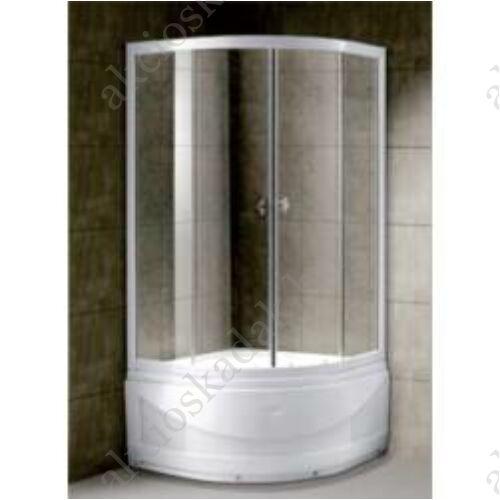Dóra Magas zuhanytálcás Zuhanykabin 80x80cm íves