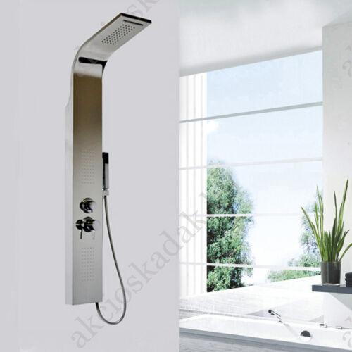 Colorado silver rozsdamentes polírozott  króm zuhanypanel vízeséssel,4 funkciós