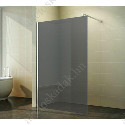 walk-in zuhanyfal 70x200cm 8mm-es nano vízlepergető füst üveggel kitámasztó karral