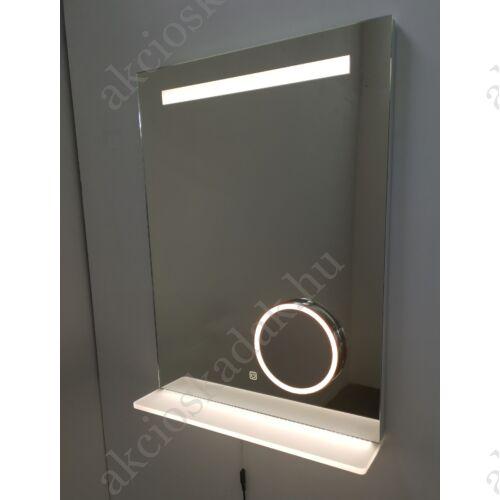 Ikon okos tükör led világítás polcos 50x70cm+kozmetikai tükör+páramentesítő