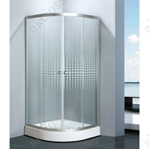 Elvira zuhanykabin 90 íves Matrix üveggel zuhanytálca nélkül