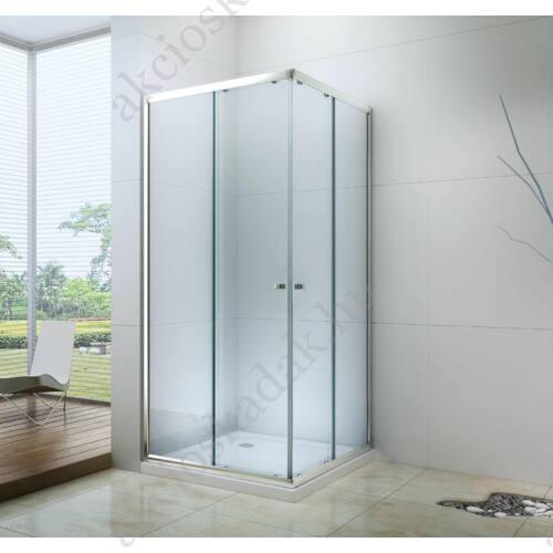 Royal trend 80x120-as szögletes zuhanykabin 6mm-es nano vízlepergető üveggel jobbos-balos beépítés