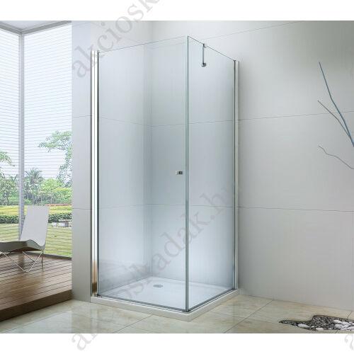 Royal corner 80x80-es szögletes nyílóajtós zuhanykabin 6mm-es nano vízlepergető üveggel