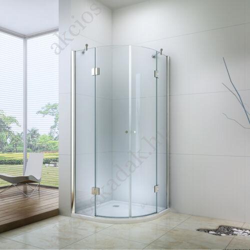 Royal deluxe 90x90-as zsanéros zuhanykabin 6mm-es nano vízlepergető üveggel Zuhanytálcával