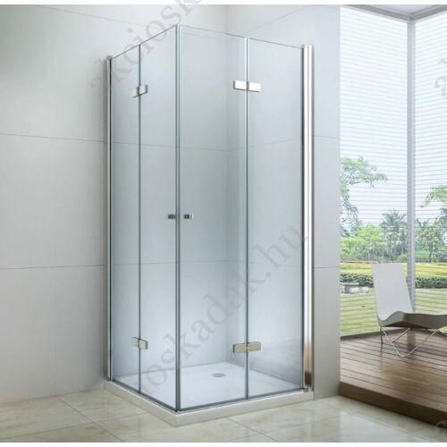 Royal relax 90x90 összecsukható zuhanykabin 6mm-es nano vízlepergető üveggel