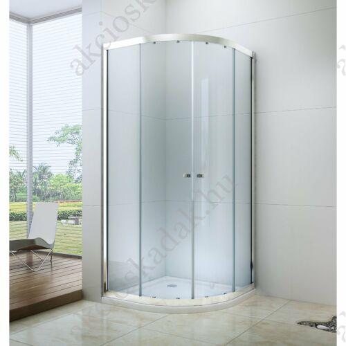 Royal standard 90x90-es íves zuhanykabin zuhanytálcával  6mm-es nano vízlepergető üveggel
