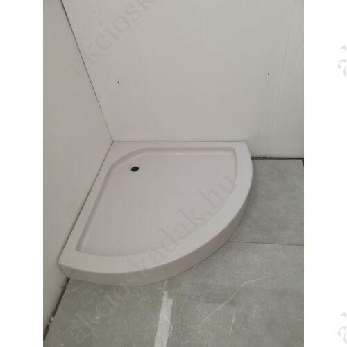 Normál magasságú íves zuhanytálca túlforduló íves kivitel 90x90 Csak személyes átvétellel!