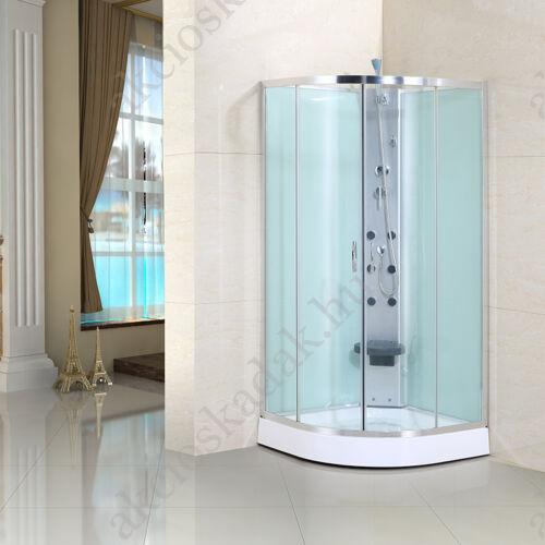 Hidromasszázs zuhanykabin 90x90cm íves