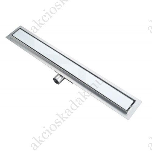 Zuhanyfolyóka fehér üveggel  kompletten 80x7cm-es méreteben 67mm-es magas AKÁR INGYEN POSTÁVAl!